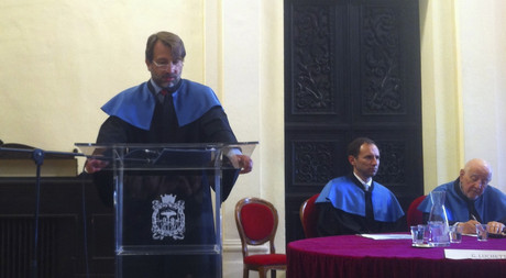 Vice Rector for Academic Affairs Prof. Dr. Ahmet Sözen Delivered a Presentation at the University of Bologna