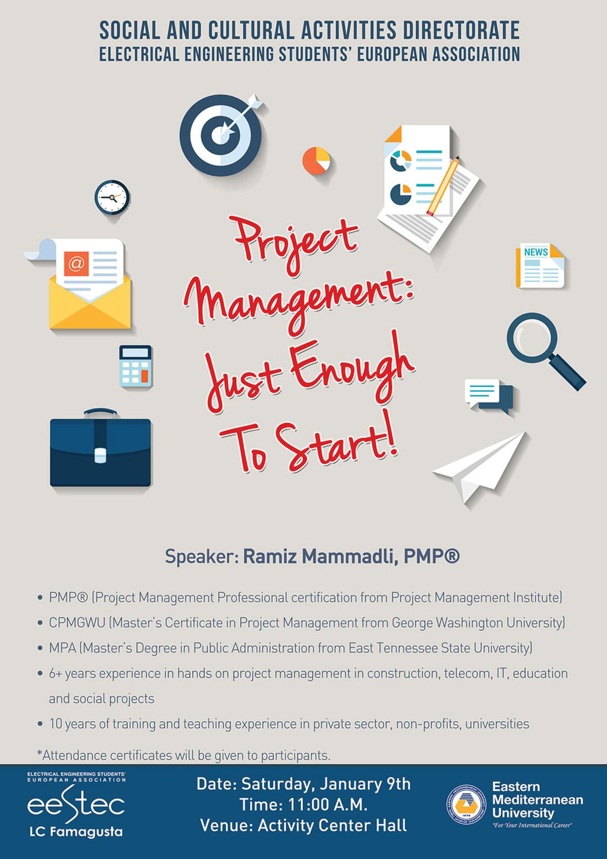 Quotproject management just enough to startquot seminar project management just enough to start seminar xflitez Images