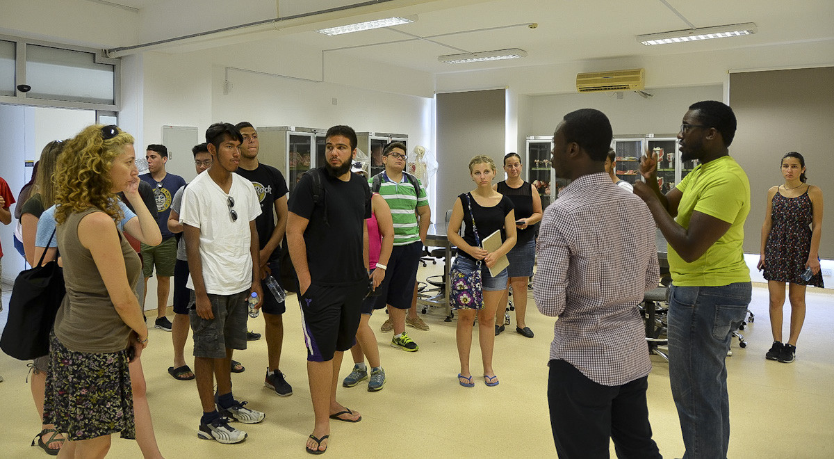 Students Visiting Cyprus as Part of the AYLP Program Explore EMU Faculty of  Medicine c3190c54f1d
