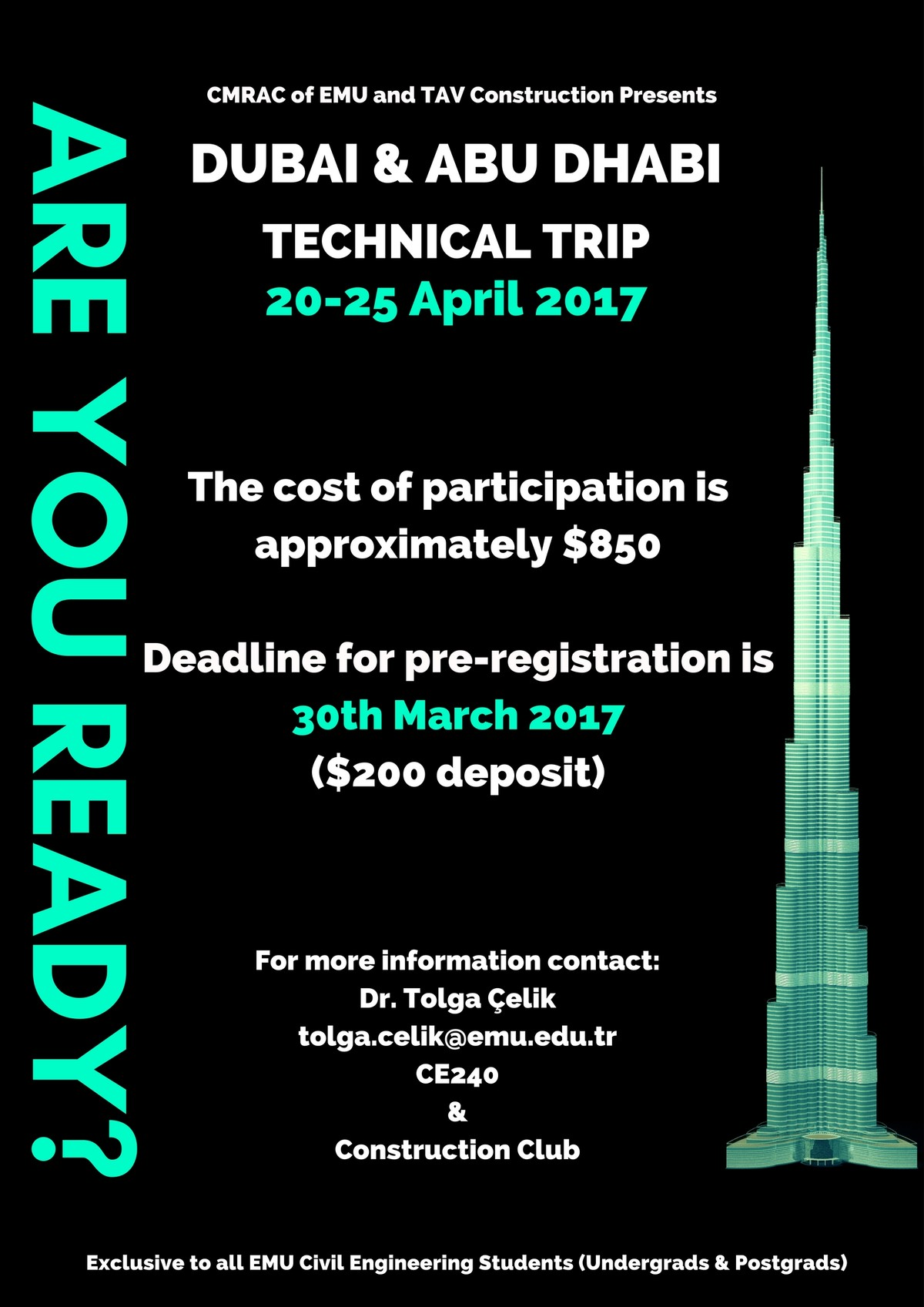 Dubai & Abu Dhabi Technical Trip Announcement