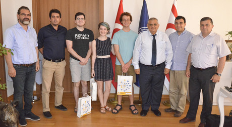 International Students Visit EMU Rector Prof. Dr. Necdet Osam