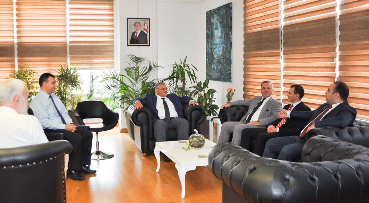 TRNC Foreign Press Association Visits EMU Rector Prof. Dr. Necdet Osam
