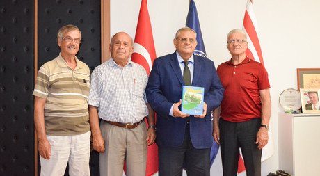 Erenkoy Turkish Cypriot Soldiers Association Visits EMU Rector Prof. Dr. Necdet Osam