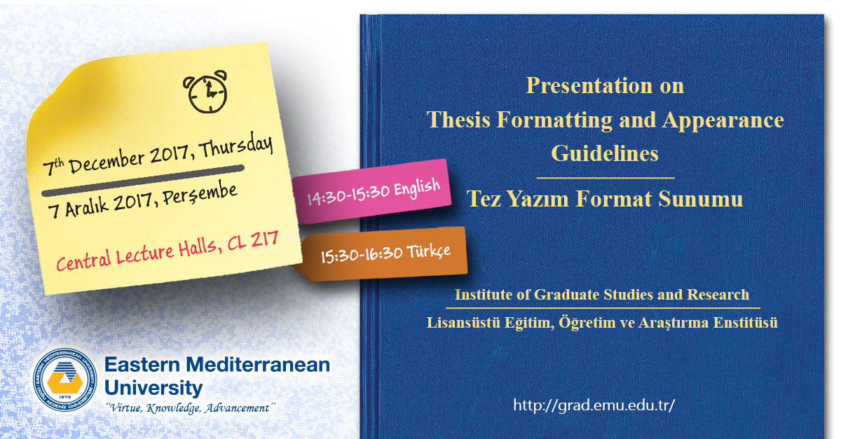 Thesis Formatting and Appearance Guidelines