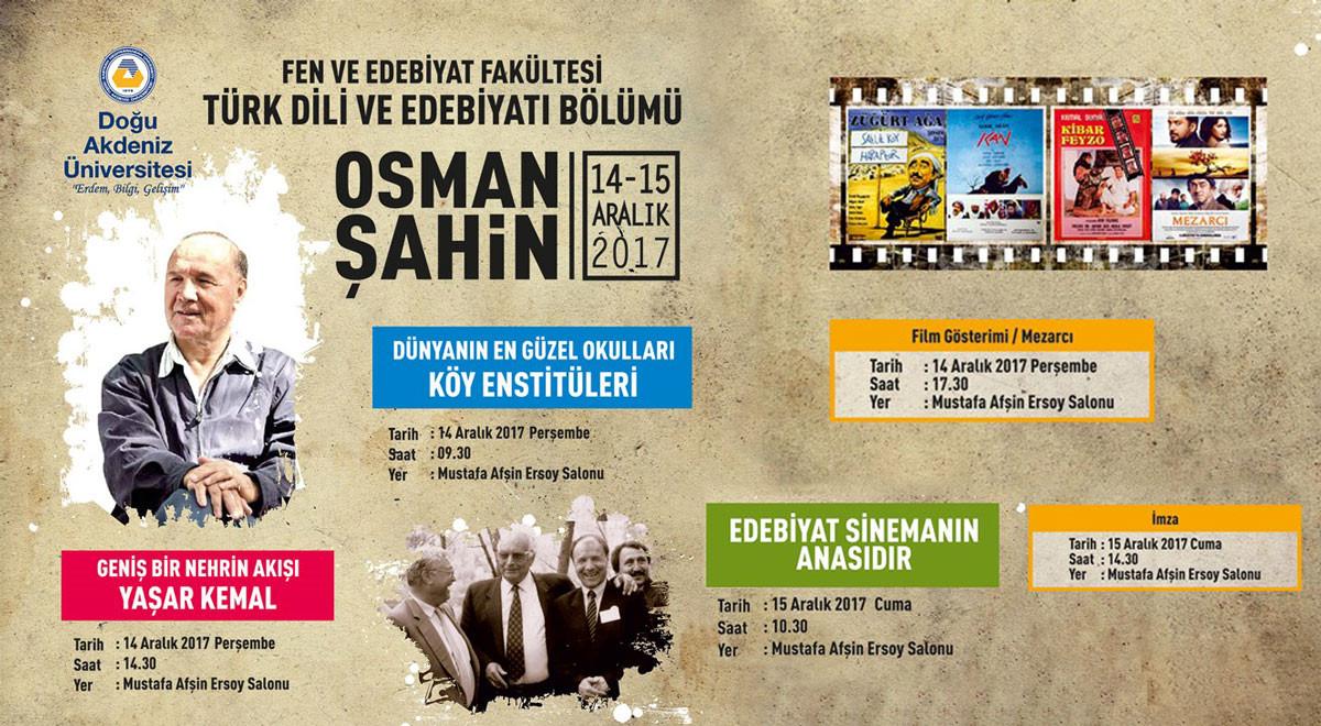 Geniş Bir Nehrin Akışı Yaşar Kemal - Osman Şahin | Events | Eastern  Mediterranean University (EMU), Cyprus