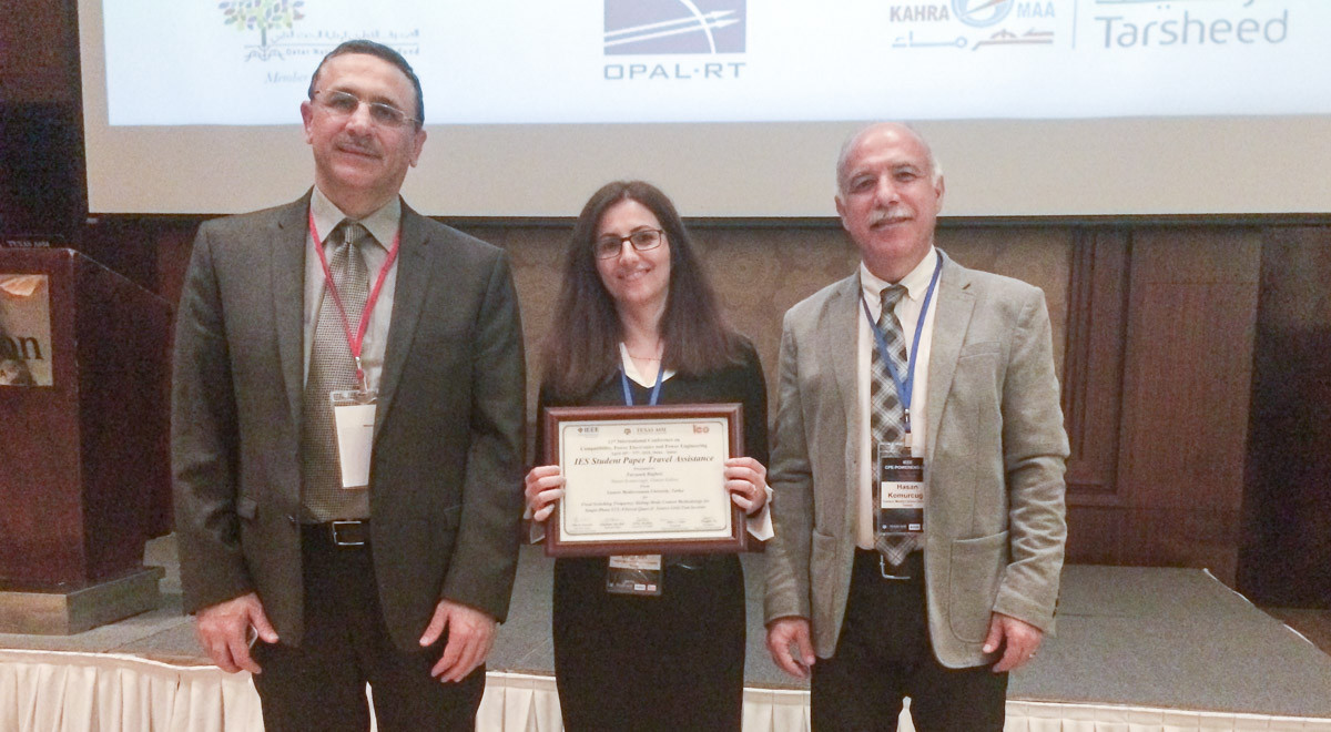 EMU Doctorate Student Awarded IEEE-IES Prize