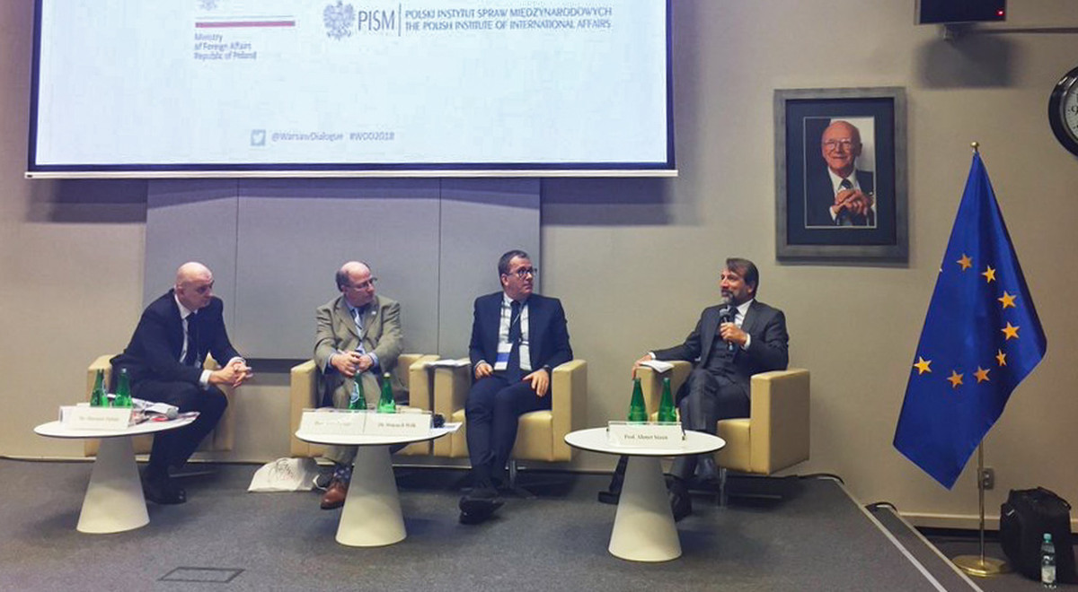 EMU Academic Staff Prof. Dr. Sözen Delivered a Speech at Warsaw Dialogue for Democracy 2018 Conference