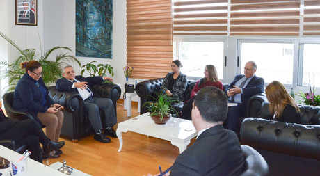 TRNC Minister of Internal Affairs Ayşegül Baybars Visited EMU Rector Prof. Dr. Necdet Osam