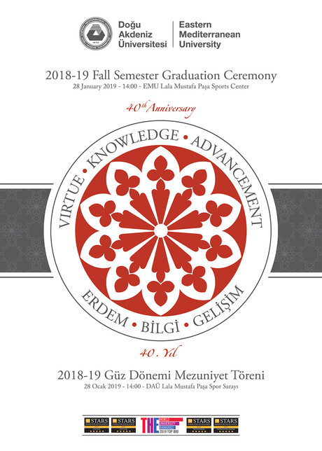 2018-2019 Academic Year Graduation Week