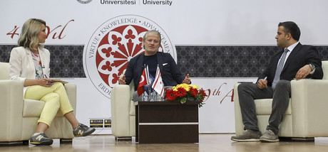 Famous Football Player Tugay Kerimoğlu Meets with Students at EMU