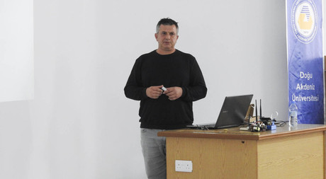 Owner of Cyprus Robotics Tezel Çelebi Gave a Conference in EMU