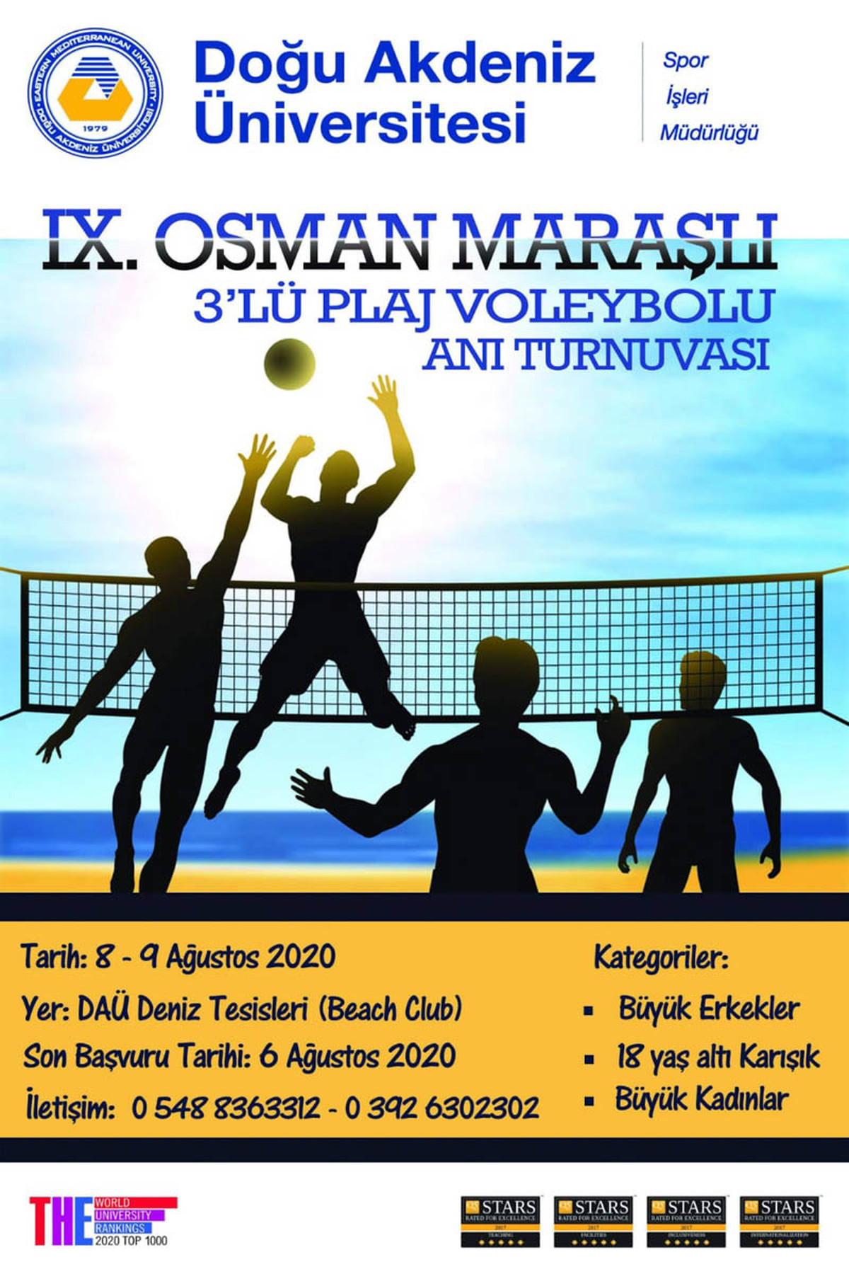 EMU IX. Osman Maraşlı Memorial Tournament To Start