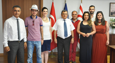 SesVerSus Vocal Group Visited EMU Rector Prof. Dr. Öztoprak