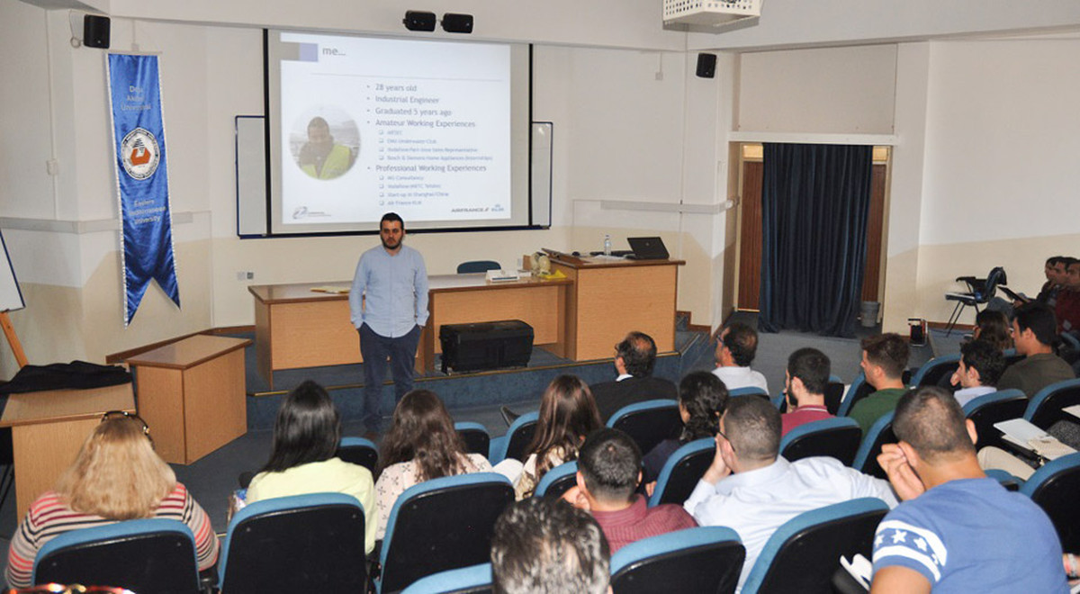 "EMU Graduate Delivers a Seminar on ""Airline Pricing Strategies"""