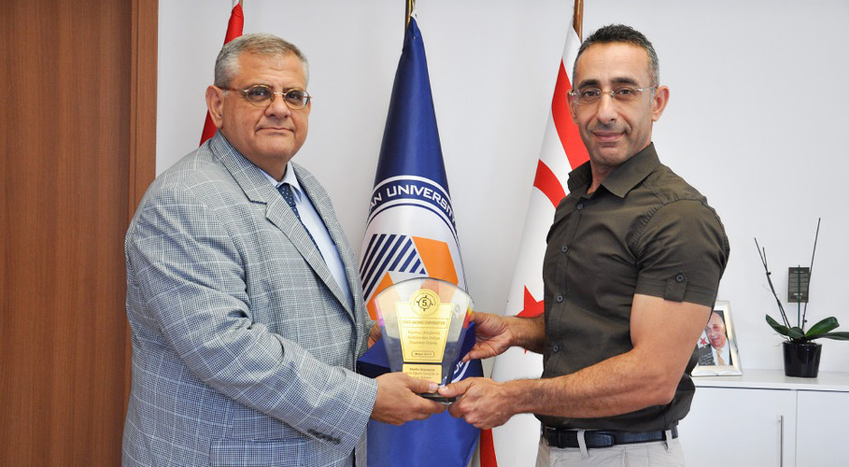 Famagusta Special Education Center Presented a Plaque of Appreciation to EMU